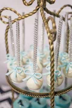 Project Nursery - Breakfast at Tiffany's Party Cake Pops - Project Nursery