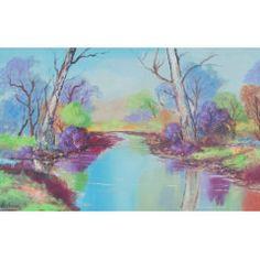 Buy River Reflection, Oil painting by Louis Pretorius on Artfinder. Landscape Paintings, Landscapes, Oil Painting On Canvas, Impressionist, Reflection, Saatchi Art, Original Paintings, River, The Originals