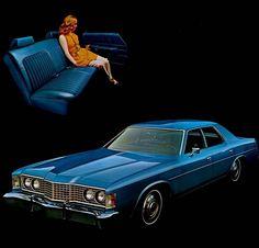1974 Ford Custom 500 4-Door Sedan 70s Muscle Cars, Ford Ltd, Cars Usa, Car Advertising, Car Makes, Ford Motor Company, All Cars, Cadillac, Transportation