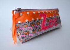 Exemple Trousse d'école ♥Zoé♥ | Mamzelle Adele, créatrice d'accessoires textiles | mamzelleadele