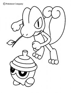 Treecko And Seedot Pokemon Coloring Page More Grass Sheets On Hellokids