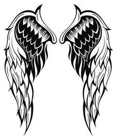 Angel Wings Tattoo On Back, Angel Wings Drawing, Tattoo Wings, Wing Tattoo Designs, Angel Tattoo Designs, Graffiti Drawing, Cool Art Drawings, Persian Tattoo, Mystical Tattoos