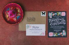 fiesta inspired floral invitation