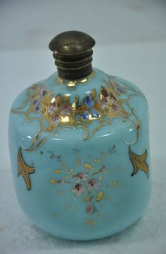Good Piece For Collection. See Photos for More Details & Actual Condition. Actual Images of item are shown above. Enamel Paint, Glass Figurines, Carnival Glass, Milk Glass, Flask, Needful Things, Glass Art, Perfume Bottles, Lamps