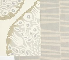 Custom Lotus Wallpaper and Custom Birch Fabric- Heathcliff | Galbraith & Paul