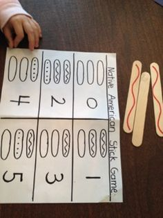 Native American Indian Game for Speech Therapy//looks to me like a good matching -visual perception CHEAP activity Native American Games, Native American Crafts, Native American Indians, Native Americans, Indians Game, School Age Activities, Thanksgiving Preschool, Movement Activities, Le Far West
