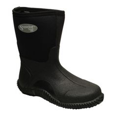 SALE - Womens Superior Mud Waterproof Boots Black Rubber - Was $58.00 - SAVE $4.00. BUY Now - ONLY $53.95