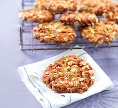 These healthy Anzac biscuits are packed with chewy oats and coconut and sweetened with a dash of golden syrup. A classic Australian biscuit.
