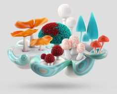 An experimental visual series of mushroom micro-ecosystems.