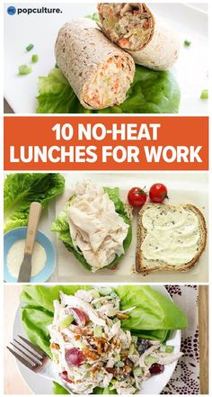 10 No-Heat Lunches To Bring To Work. Tired of waiting an extra 20 minutes for your coworkers to be finished with the microwave? Or maybe you're over the same three frozen meal options you have stocked Quick Healthy Lunch, Healthy Lunches For Work, Snacks For Work, Healthy Snacks, Healthy Eating, Healthy Frozen Meals, Lunches On The Go, Healthy Meal Options, Healthy To Go Meals