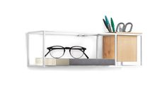 The Cubist wall mounted storage unit is a small, stylish shelf and planter. Can be fixed next to your bed to hold your bedtime reading or sit on a desk top. Wall Mounted Shelves, Shelf, Bed Company, White Bedrooms, White Bedding, The Unit, Contemporary, Storage, Home Decor