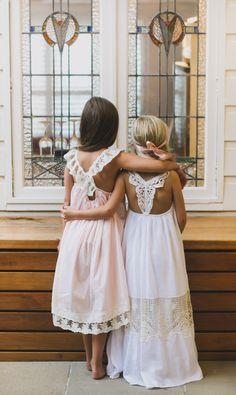 Lotus dress in Snow white- Limited edition gorgeous dress - Tea Princess Flower Girl Beach Wedding, Boho Wedding, Beach Flower Girls, Bohemian Flowers, Bohemian Flower Girl Dress, Perfect Day, Maid Dress, Babydoll Dress, White Lace