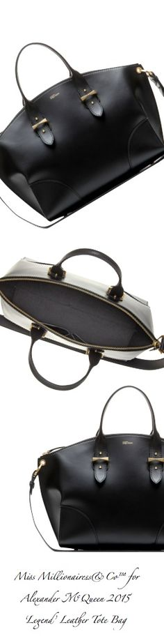 Alexander McQueen 2015 - 'Legend' Black Leather Tote Bag