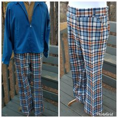 Vintage plaid golf pants 1970s Saturdays britches by Lord and Taylor b6a6197487dab