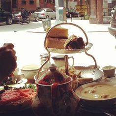 English tea at my fav West Village spot for many many many years now.... Tea & Sympathy