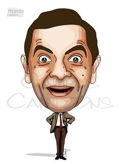 Mr. Bean - Rowan Atkinson | Ricardo Campus - Caricaturas Cartoons e Ilustração