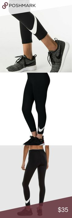 New Nike Club Cropped Leggings New with tags attached!  Your hectic life will seem a whole lot easier and comfortable with the women's Club Cropped Leggings.  Elastic waistband for a comfortable fit. 92% cotton/8% spandex Black with white swoosh. Nike Pants Capris