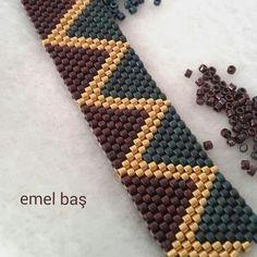Peyote bracelet in progress... by Emel Bas from Turkey