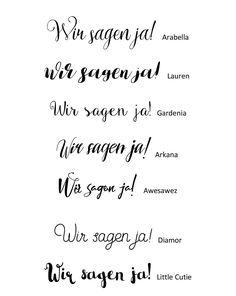 Diese schicken Schriftarten passen sehr gut zur Hochzeit und der Papeterie. Sie sind von Pixelbuddha und der Download ist kostenlos.