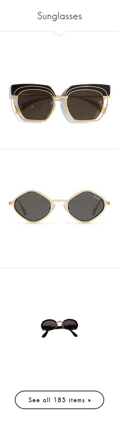 """""""Sunglasses"""" by mollface ❤ liked on Polyvore featuring accessories, eyewear, sunglasses, 2016 sunglasses, ice crystal, see through glasses, cat eye mirrored sunglasses, logo sunglasses, mirror sunglasses and anna karin karlsson sunglasses"""