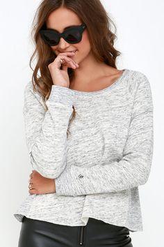 Obey Jackson Heather Grey Sweatshirt at Lulus.com!