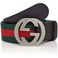 Gucci Men's Web Striped Canvas Belt (€335) ❤ liked on Polyvore featuring men's fashion, men's accessories, men's belts, mens belts, mens real leather belts, mens genuine leather belts and mens leather accessories