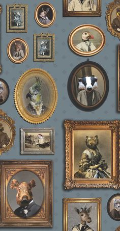 Portrait Gallery by Graduate Collection - Blue - Wallpaper : Wallpaper Direct
