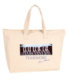 "Gene Schiavone - Ballet Collection ""Teamwork"" Zipper Canvas Tote Bag Trunk Candy http://www.amazon.com/dp/B01728CWDA/ref=cm_sw_r_pi_dp_lVqqwb1TAQXKF"