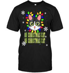 c346a4de757 Funny Cat Christmas T Shirt Oh Christmas Cat. Christmas PunsCute Cat FaceCat  ShirtsFunny CatsCute CatsCat LoversBeautiful ...