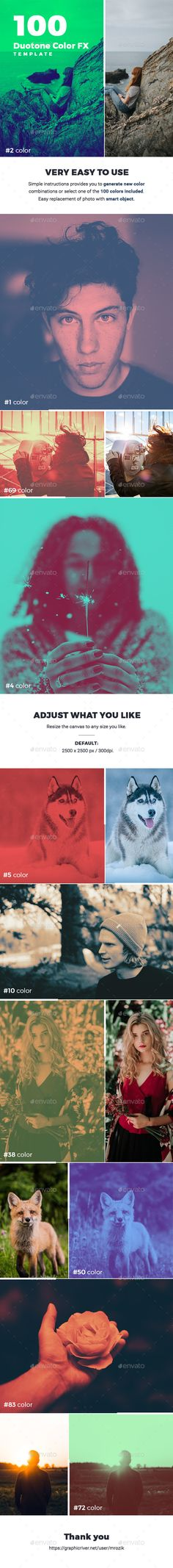 100 Duotone FX Photo Template - Photo Templates Graphics