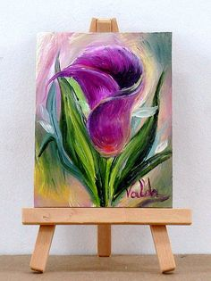 Valda Fitzpatrick Artwork: purple cala lilly | Original Painting Oil | Floral Art
