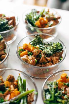 chicken and sweet potatoes in meal prep bowls