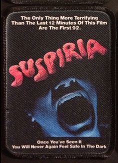 Suspiria Patch :: Patches :: Patches :: Weird Stuff :: House of Mysterious Secrets - Specializing in Horror Merchandise & Collectibles