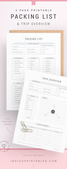 Free Printable Packing List for Organized Travel and Vacation - packing checklist template
