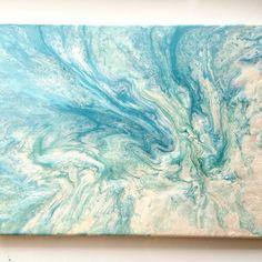 Pebeo paint, fluid art. Original Pebeo Art by Megan Keith