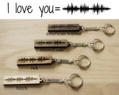 These keychains are customized with the sound waves of your voice. (Etsy, $6) - Catherine Conelly