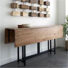 Mesa plegable para comedores polivalentes.