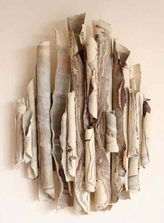Joan Hardy, UK.  Very organic, in fact, some is almost indistinguishable from natural objects.  Is this art or a waste of time? Art IMO.