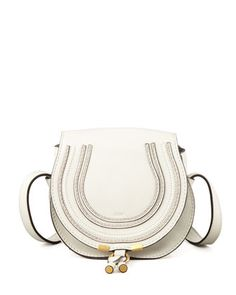 Marcie Small Satchel Bag, Off White by Chloe at Bergdorf Goodman.