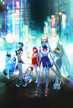 """This """"Sailor Moon"""" Redesign Shows The Scouts As Futuristic Street Fighters by W. Scott Forbes"""
