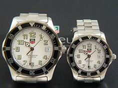 2x TAG Heuer 2000 Submariner Sport His and Hers set with a White dial WM1111+WM1311