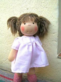 "Waldorf doll, waldorf inspired doll, steiner doll, organic doll, 13"" tall doll, fabric doll, cloth doll, handmade, gift for her"
