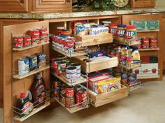 Choose pantry-shelving solutions that work best for your kitchen pantry or cupboard with these organization tips from HGTVRemodels. Choose pantry-shelving solutions that work best for your kitchen pantry or cupboard with these organization tips from HGTV. Kitchen Pantry Storage, Pantry Shelving, Kitchen Pantry Cabinets, Pantry Organization, Pantry Ideas, Kitchen Ideas, Organized Kitchen, Kitchen Layouts, Small Pantry