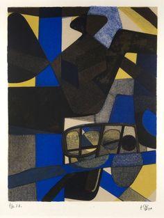 Maurice ESTÈVE (1904-2001) Loupi, 1971 Lithographie en couleurs