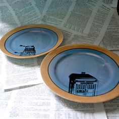 lustreware Dr Who Themed Altered Vintage Blue with by geekdetails, $30.00