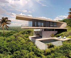 """1,548 Likes, 8 Comments - designboom magazine (@designboom) on Instagram: """"#dymitrmalcew's #bali hill house generously integrates itself with the surrounding green landscape.…"""""""