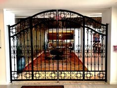 Decorative Wrought Iron Interior Double Gate