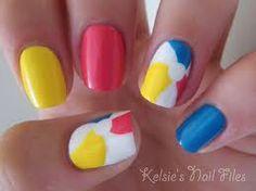 Nice summer beach ball nails