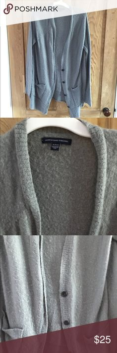 American Eagle Fuzzy Cardigain This material is seriously SO SOFT, you'll feel like you're walking around in a blanket! I haven't ever worn this, it's just been sitting in my closet begging for a companion!! American Eagle Outfitters Sweaters Cardigans