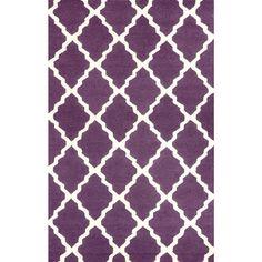 Trellis Purple 3 ft. 6 in. x 5 ft. 6 in. Area Rug